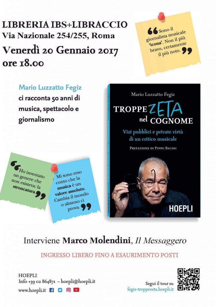 Presentazione Roma, 20 gennaio 2017 ore 18.00