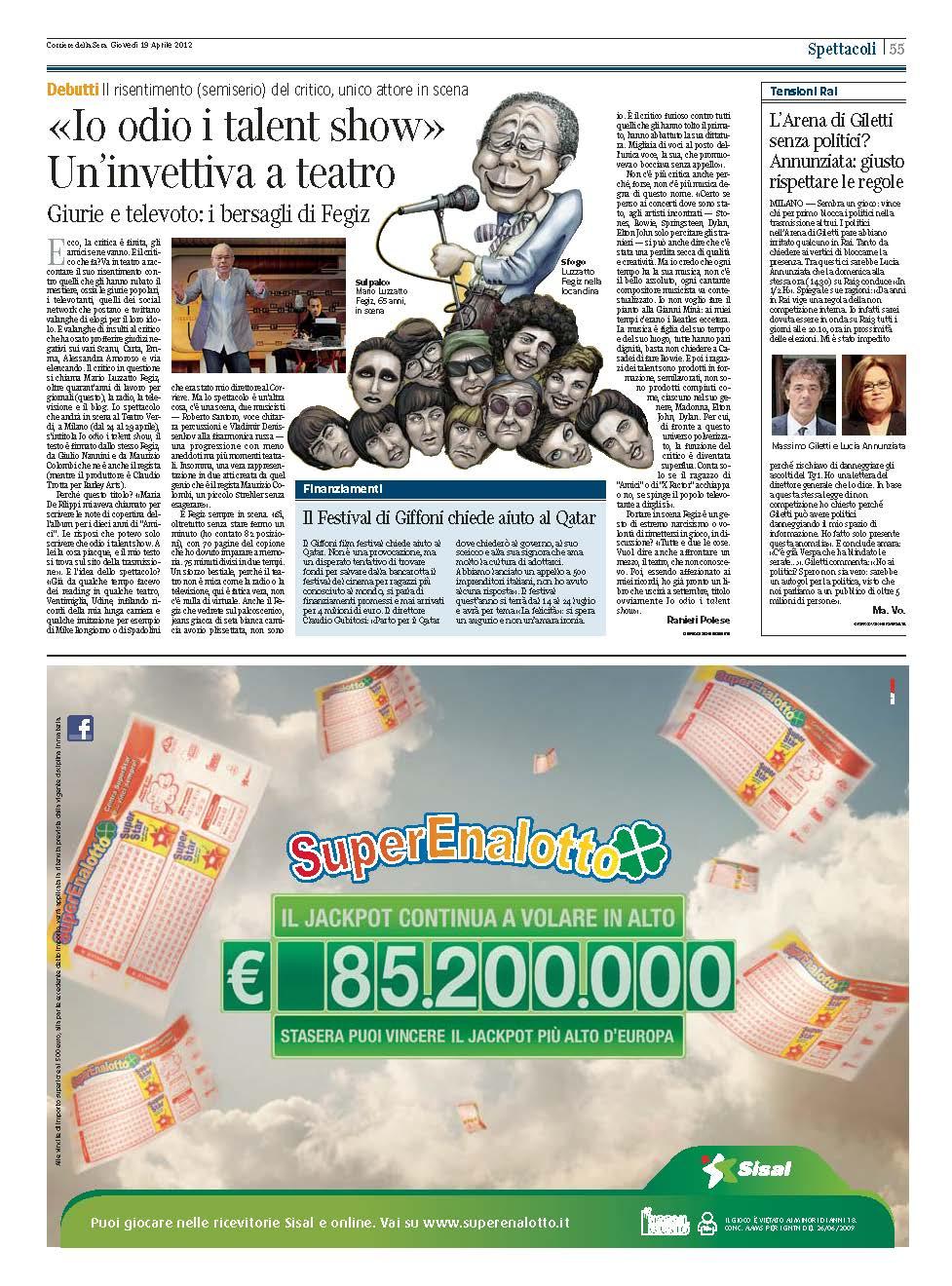 corriere della sera - 19 aprile 2012